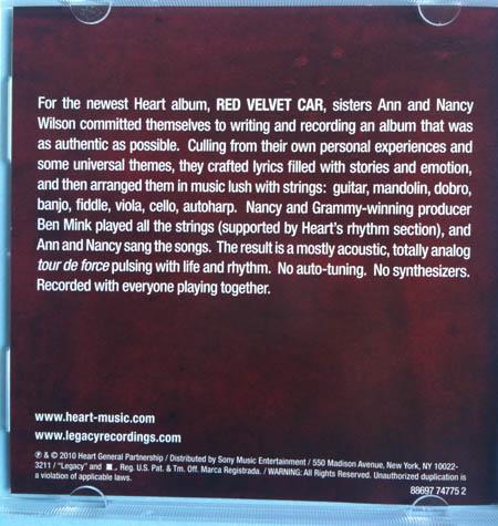 Back of CD single cover art