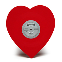 Red Heart Shaped Vinyl Single