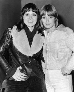 Added July 11th 2015: Ann and Nancy Wilson of the rock group Heart on tour in Europe, 1976. (Express Newspapers)