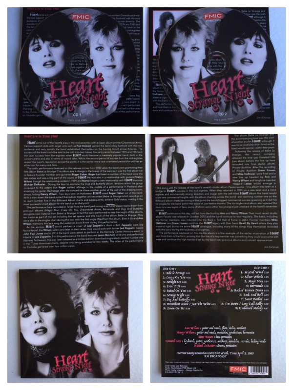 The set is housed in a fold out digipack, with liner notes by Jon Kirkman