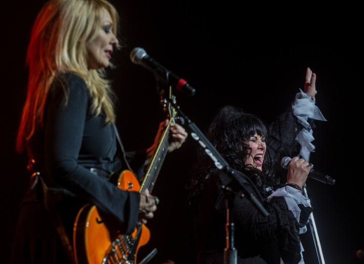 Photo of Nancy (left) and Ann Wilson, as well as Jason Bonham (below), by Dave Sidaway/ The Gazette.