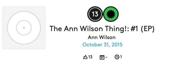 The Ann Wilson Thing is on the Billboard Heatseekers Chart!