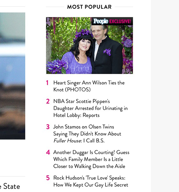 It is the most popular story on People.com today April 28th 2015