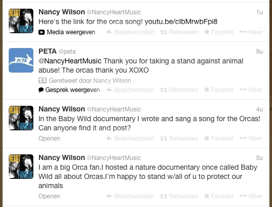 Nancy tweets some more about the Orca's