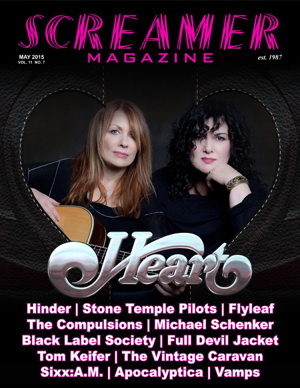 The cover of this month's Screamer Magazine